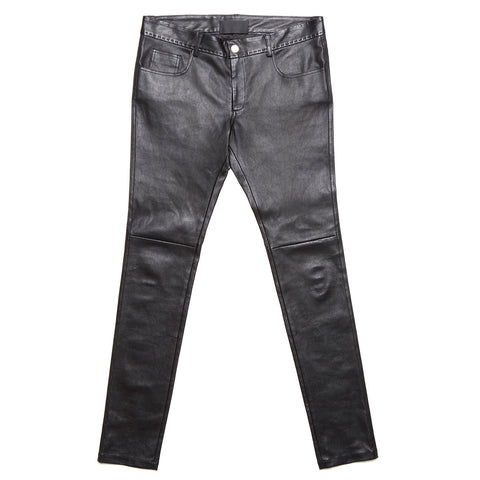 handstitched Lamb stretch leather pants