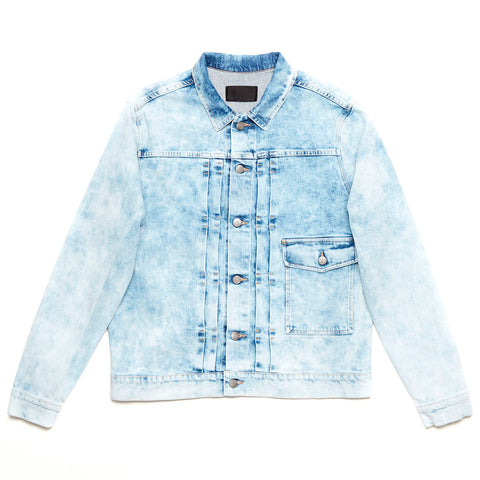Acid Denim Jacket Light Blue