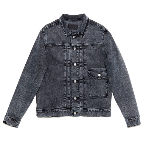 Acid Denim Jacket Black
