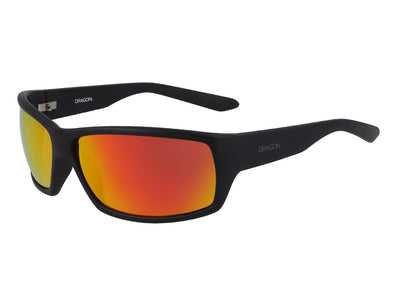 VENTURA - Matte Black ; with Orange Ionized Lens