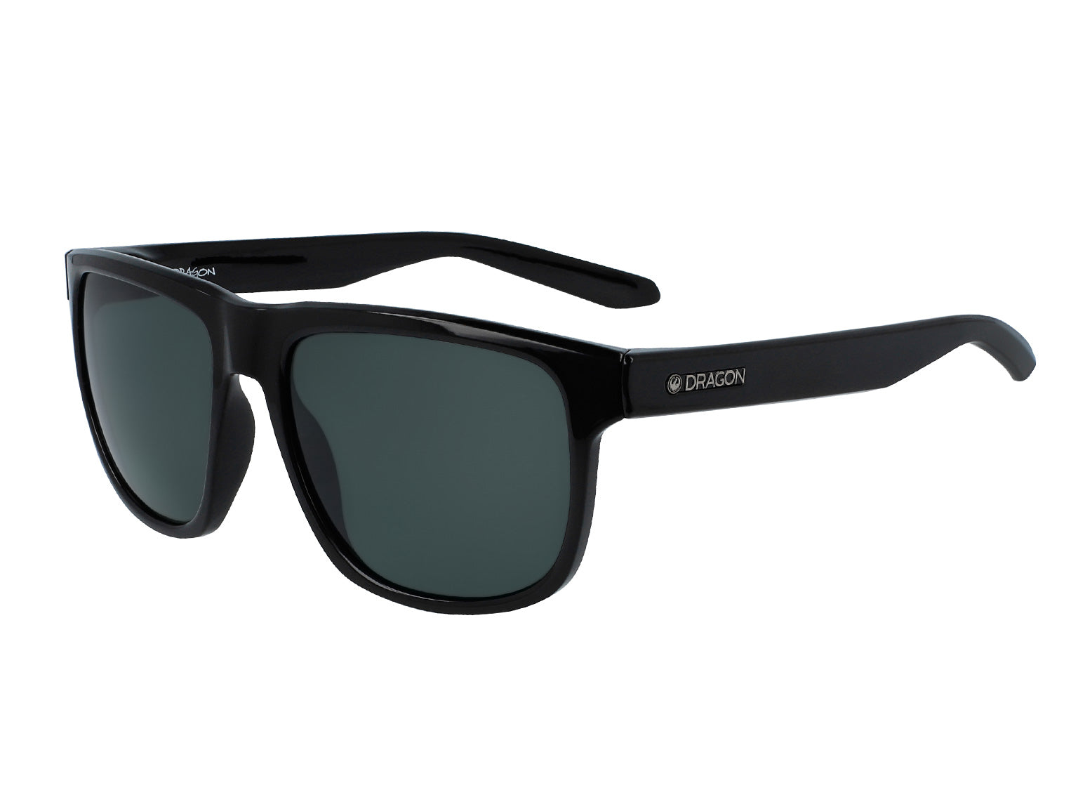 SESH - Shiny Black ; with Polarized Lumalens Smoke Lens