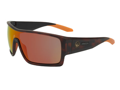 FLASH - Matte Dark Tortoise ; with Lumalens Orange Ionized Lens