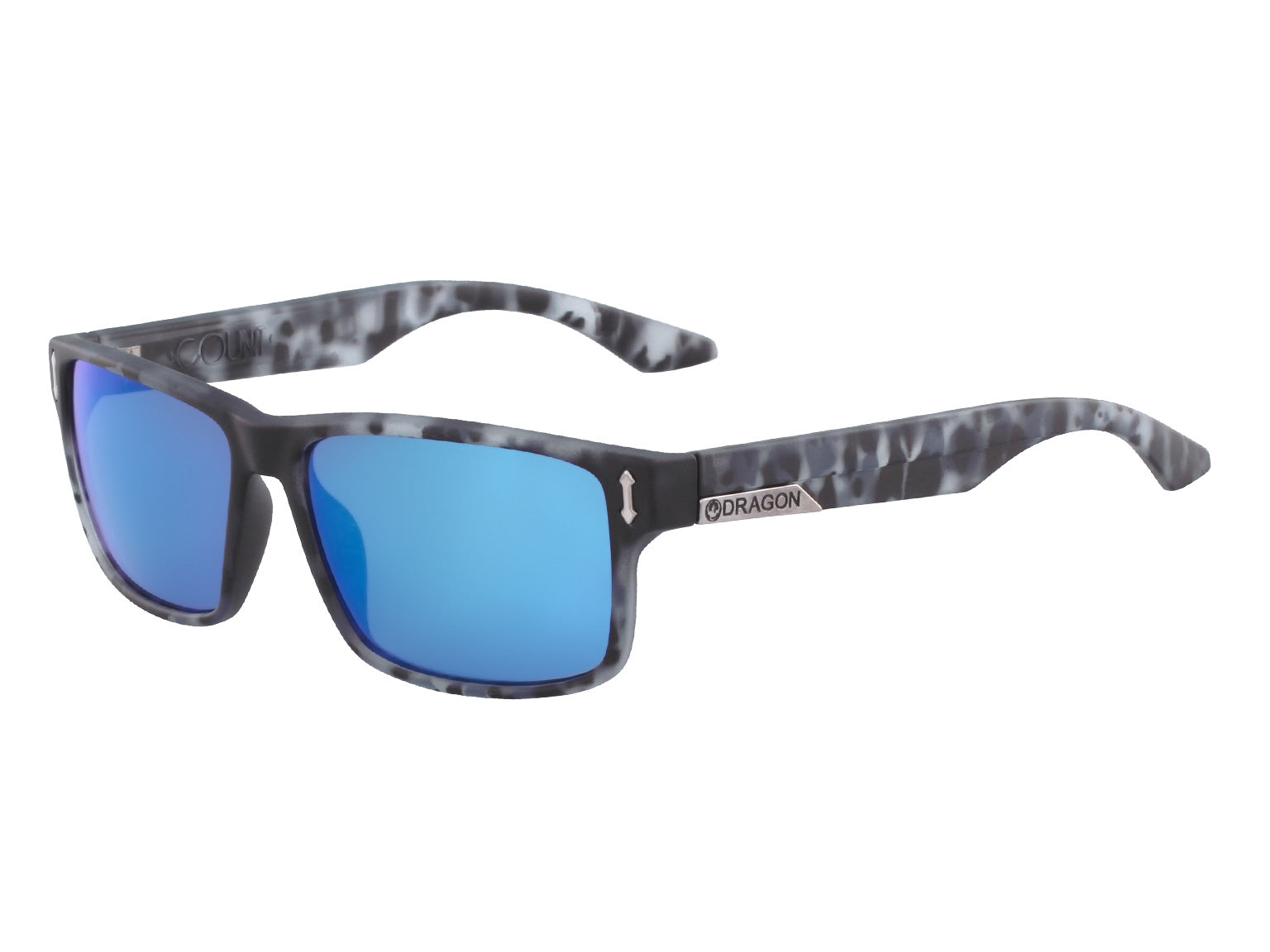 COUNT - Matte Midnight Tortoise with Lumalens Blue Ionized Lens