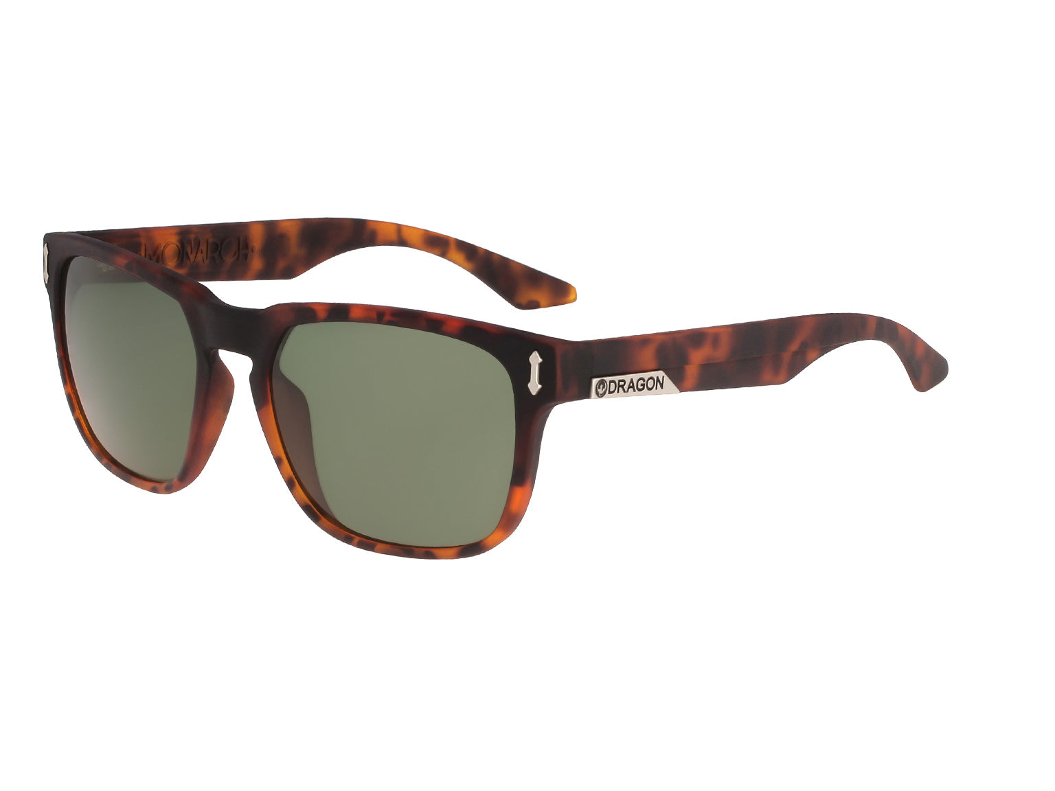 MONARCH - Matte Tortoise ; with Lumalens G15 Green Lens