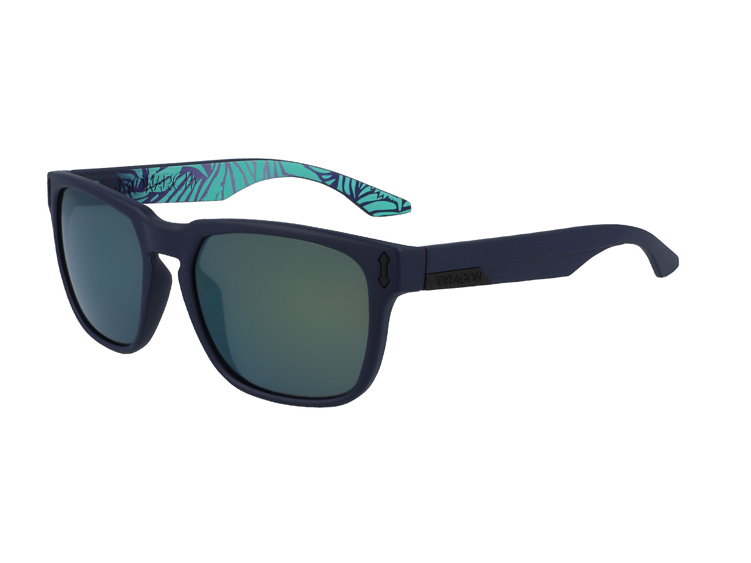 MONARCH - Matte Navy/Tropics ; with Lumalens Smoke Petrol Ionized Lens