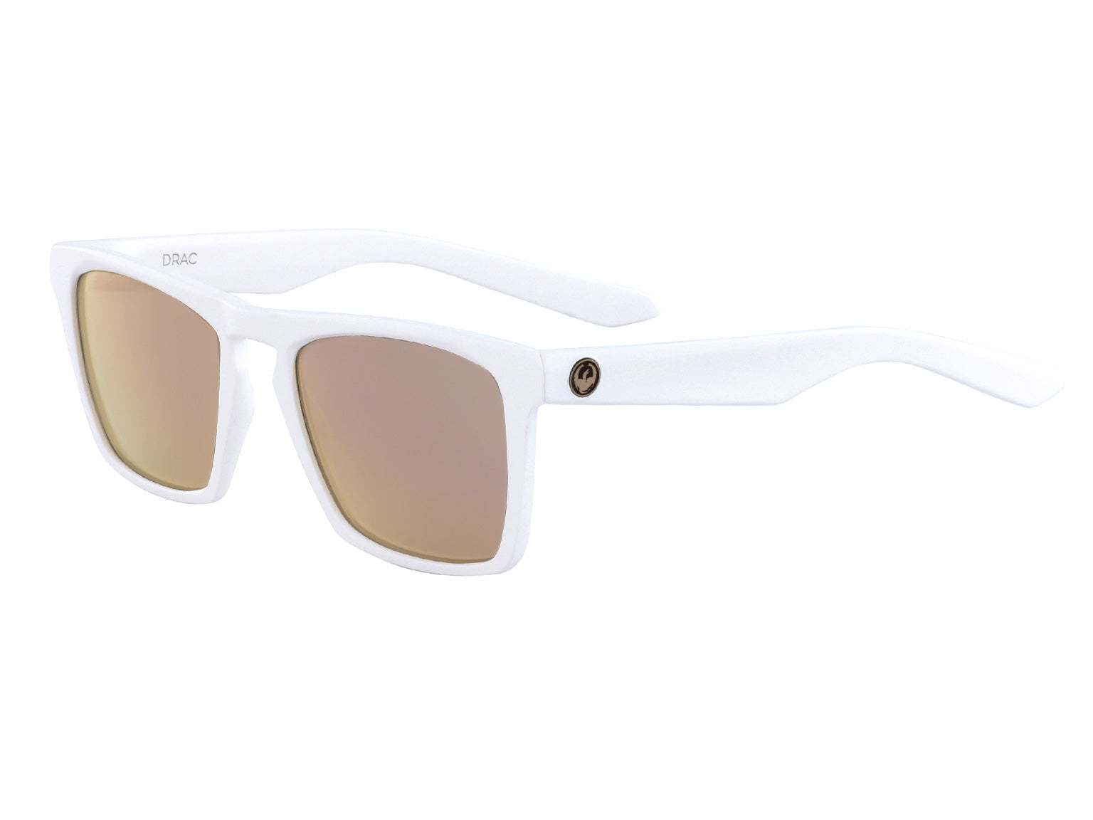 DRAC - Matte White ; with Lumalens Rose Gold Ionized Lens