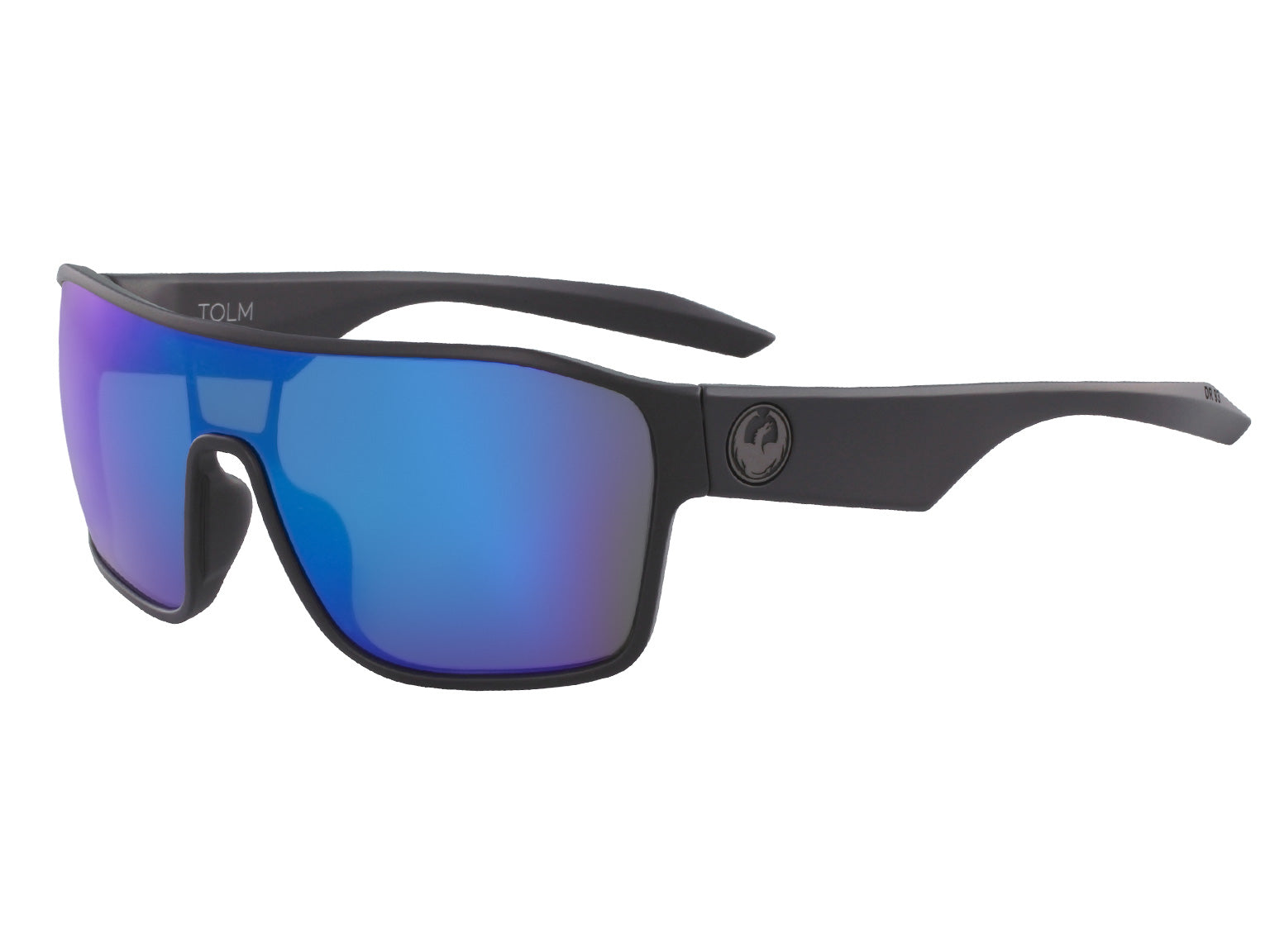 TOLM - Matte Black with Lumalens Blue Ionized Lens