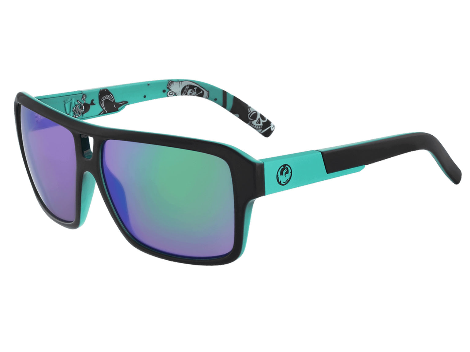 THE JAM - Owen Wright Signature Jet Teal ; with Lumalens Green Ionized Lens