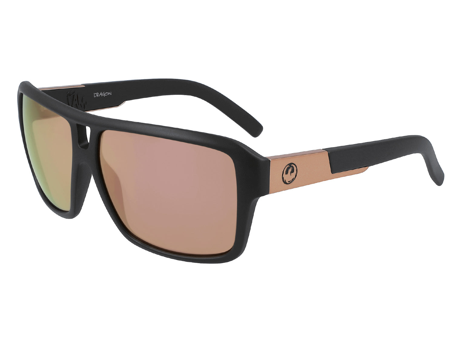THE JAM - Matte Black with Lumalens Rose Gold Ionized Lens