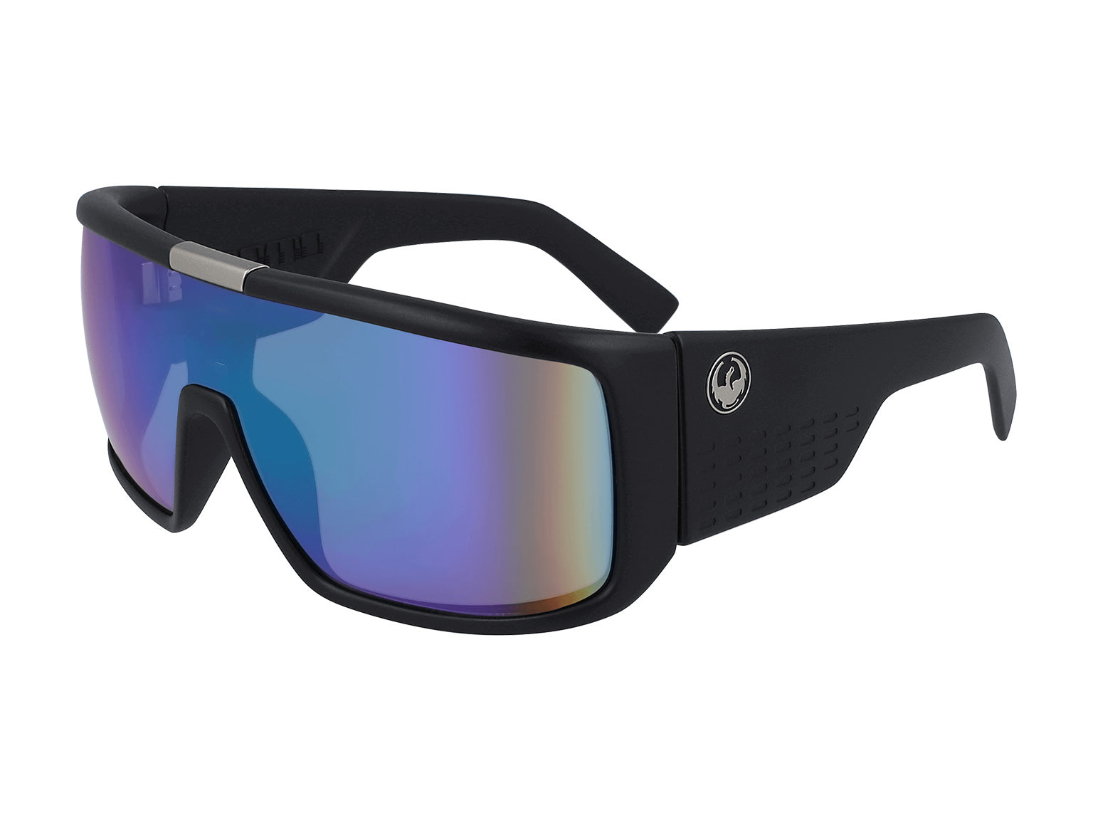 DOMO - Matte Black with Lumalens Green Ionized Lens