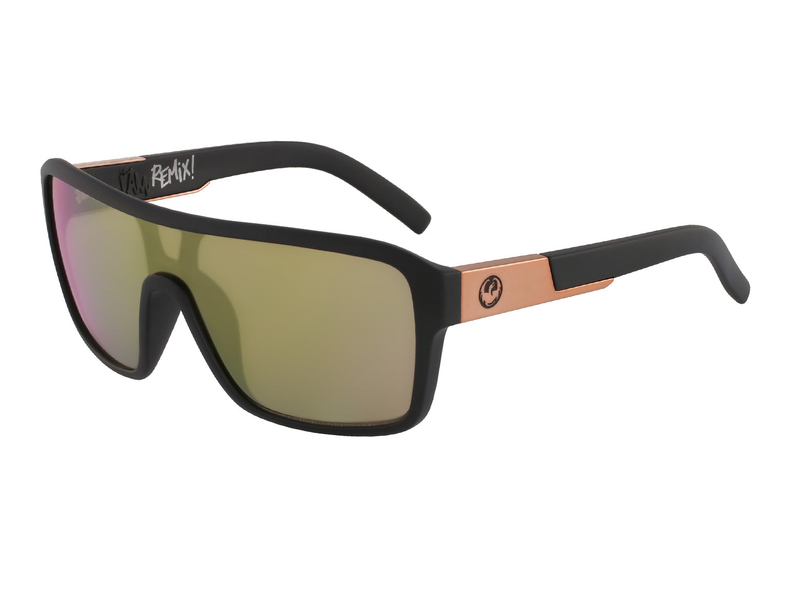 REMIX - Matte Black with Lumalens Rose Gold Ionized Lens