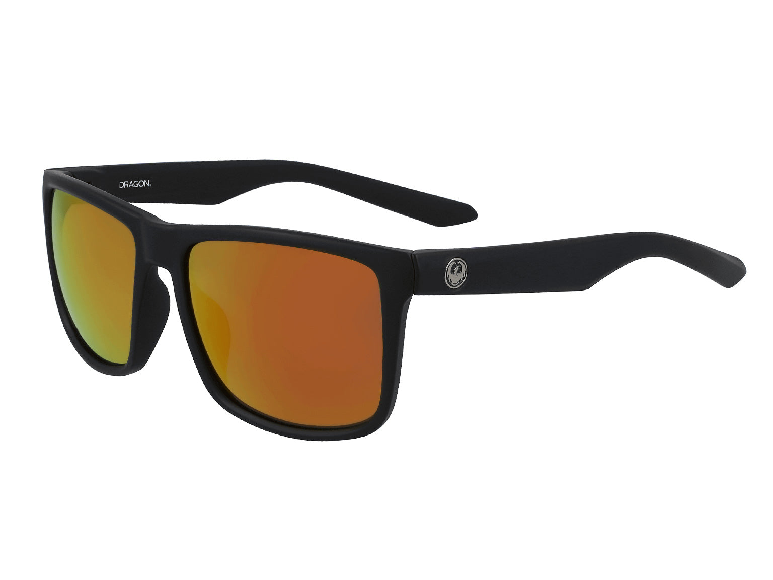 MERIDIEN - Matte Black ; with Lumalens Orange Ionized Lens