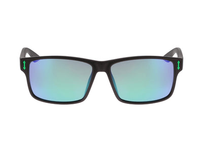 COUNT - Matte Black H2O ; with Polarized Lumalens Green Ionized Lens