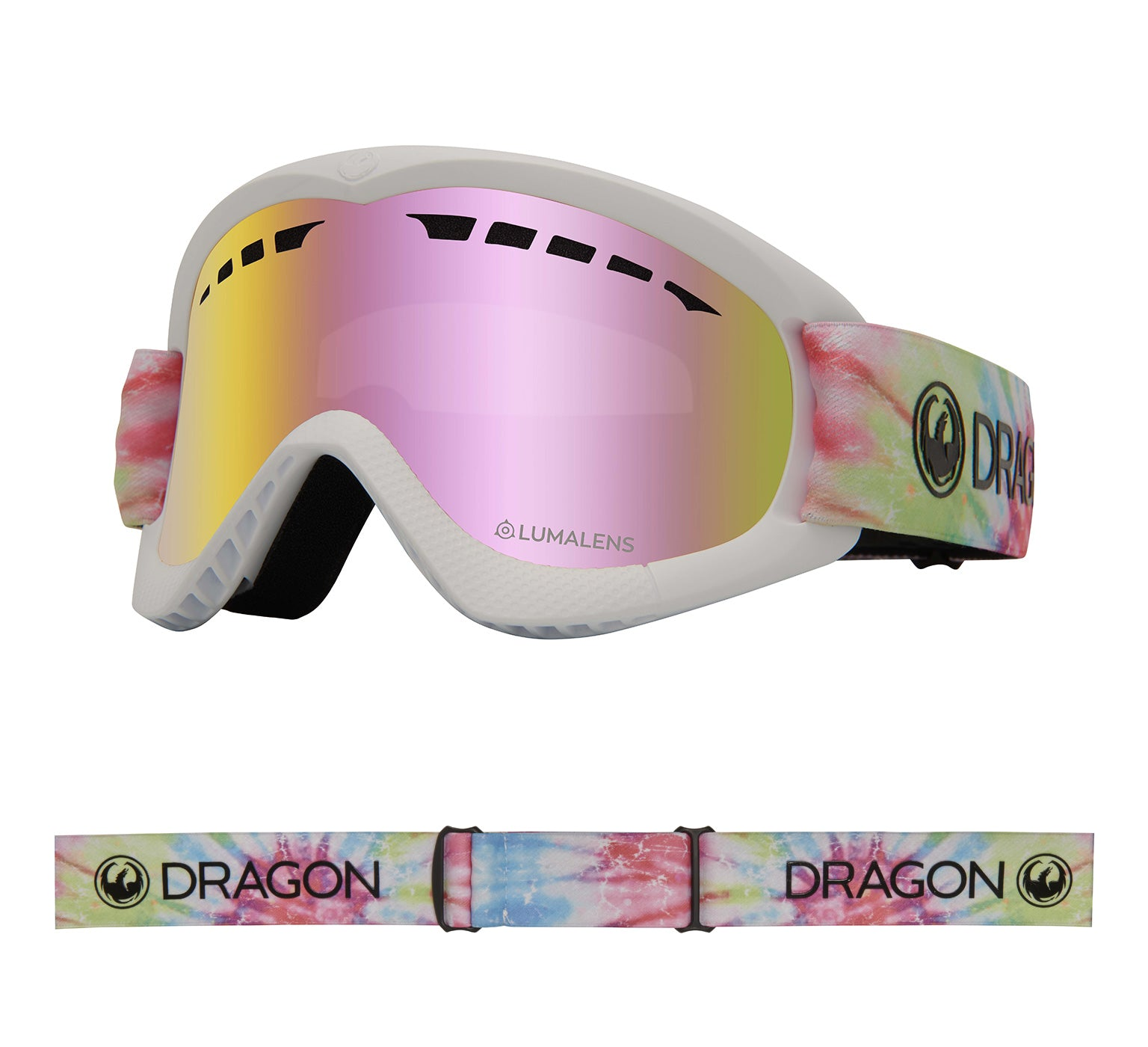 DXs - Tie Dye with Lumalens Pink Ionized Lens