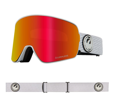 NFX2 - PK White ; with Lumalens Red Ionized & Lumalens Pink Ionized Lens