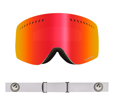 NFXs - PK White ; with Lumalens Red Ionized & Lumalens Pink Ionized Lens