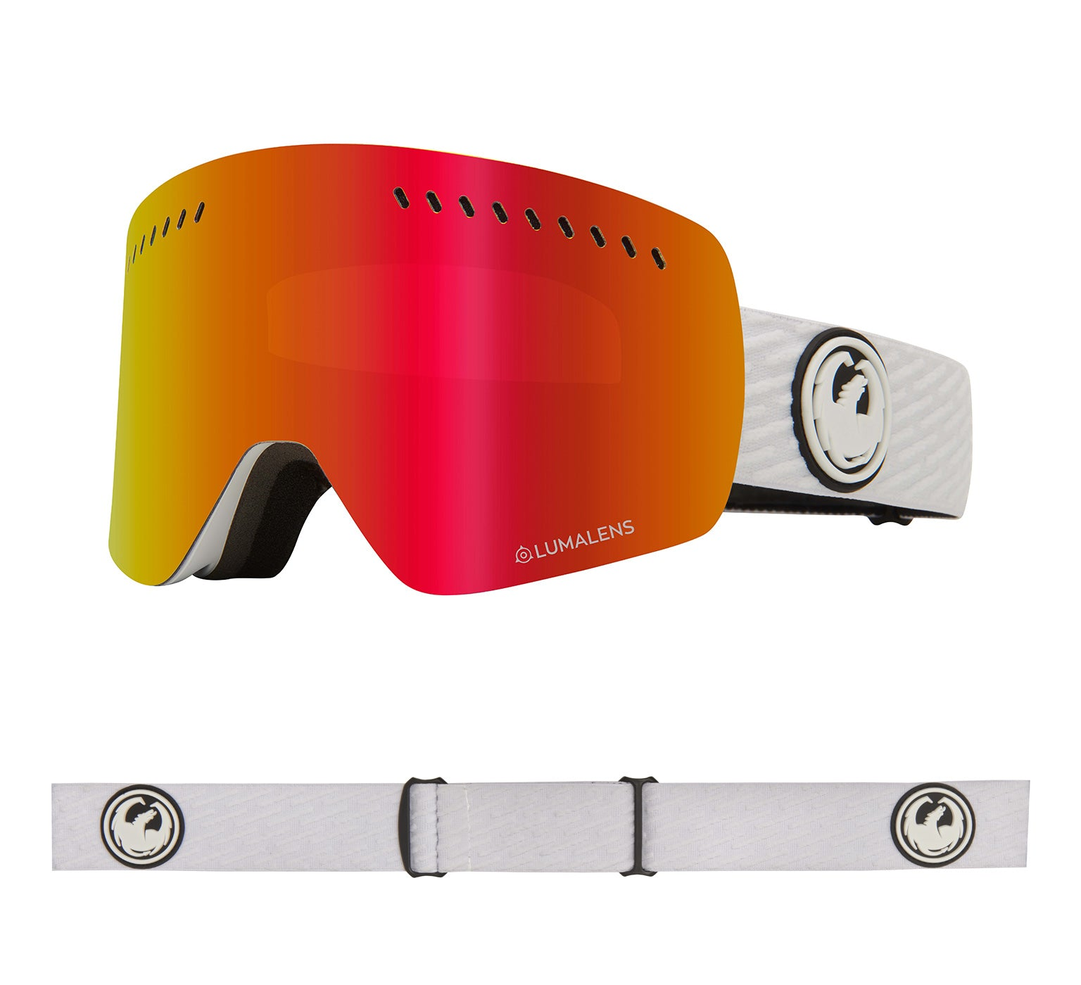 NFXs - PK White with Lumalens Red Ionized + Lumalens Pink Ionized Lens