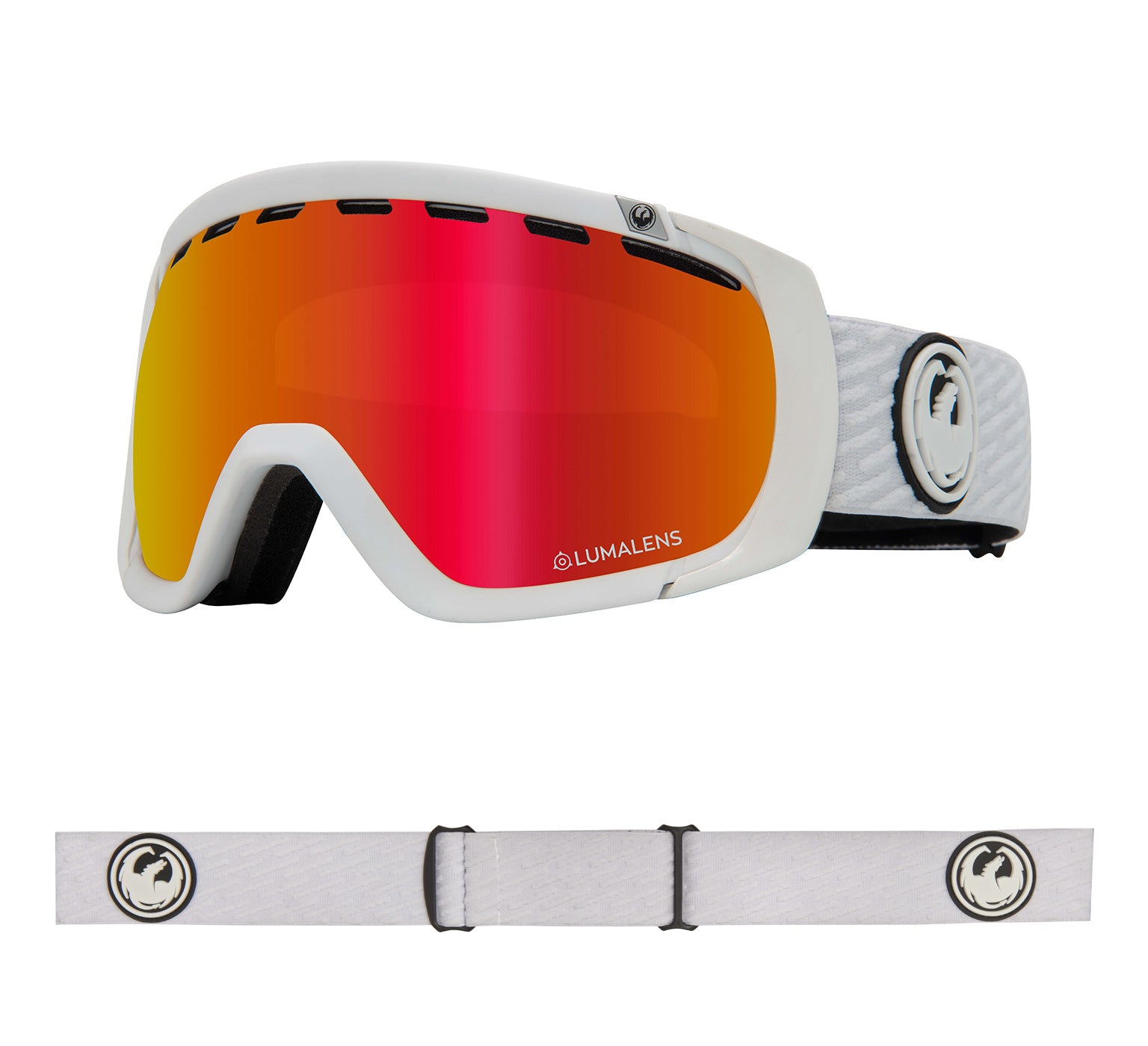 Rogue - PK White with Lumalens Red Ionized + Lumalens Pink Ionized Lens