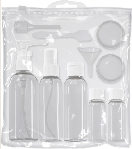 Bottle Travel Set, 10 Pieces
