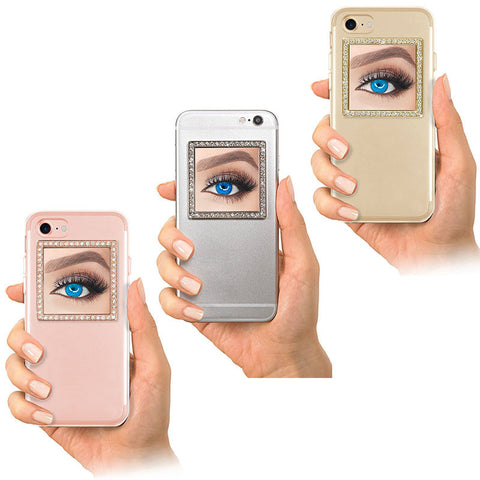 Phone Mirror Crystal Restickable for All Phones & Cases