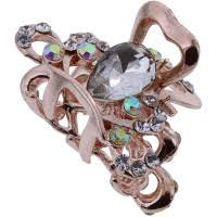 Beauty Pro Metal Rose Gold Claw Clip with Strass