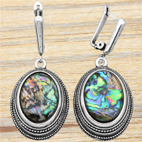 Silver Plated Double Layer Earrings