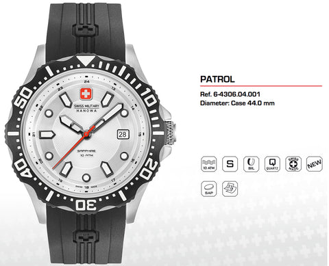 Swiss Military Hanowa Mens Patrol Watch 06-4306.04.001