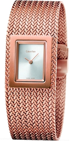 Ck Calvin Klein Ladies Mesh Watch K5L13636