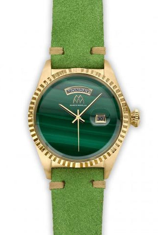 Marco Mavilla Unisex Malachite Watch VS1MAG002
