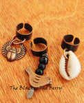Copper Hair Jewelry Cowrie Bird Egyptian Accessories Ethnic