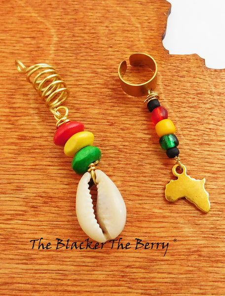 Rasta Hair Jewelry Accessories African Cowrie Shell