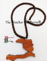 Large Haiti Wooden Beaded Necklace Men Jewelry