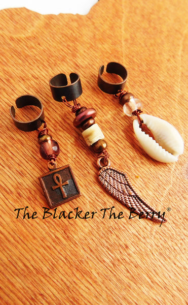 Copper Hair Accessories Ankh Cowrie Shell Wing Beaded Jewelry