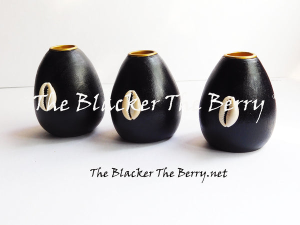 African Candle Holders Black Cowrie Ethnic The Blacker The Berry®