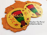 Black Women Hand Painted RBG Wooden Jewelry African The Blacker The Berry®