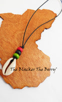 RBG Necklace Pan African Jewelry Cowrie Shell