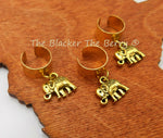 Elephant Hair Accessories Jewelry Handmade Set of 3 Brass Wide Cuff