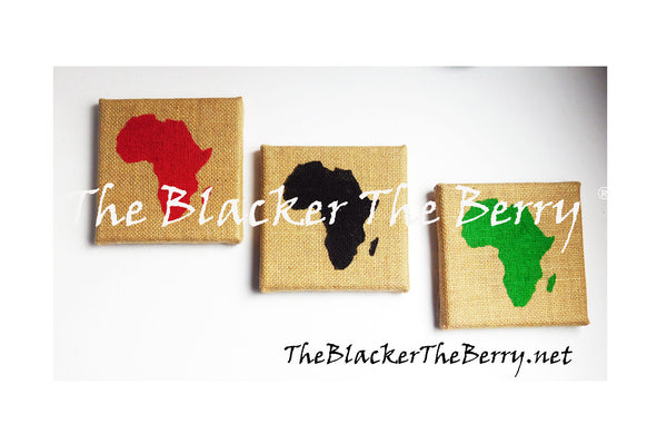 African Wall Art RBG Pan African The Blacker The Berry®