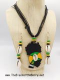 Jamaican Jewelry Set Necklaces Earrings Cowrie Shell The Blacker The Berry Ⓡ