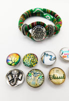 Lion Bracelet Snap Jewelry Green Gift Ideas Teen Gift Ideas