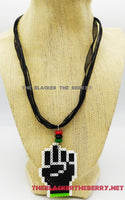 Black Power Fist Necklace RBG Pan African Teen Jewelry Gift Ideas Under 10 Handmade