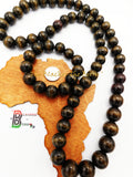 Wood Beaded Necklace Jewelry Set Bracelet Men