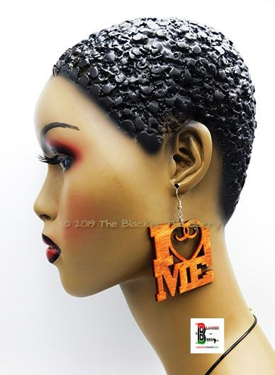 I Love Me Earrings Handmade Designed by The Blacker The Berry®
