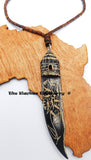 African Hut Carved Ethnic Rear Car Mirror Charm Gift Ideas Unique Accessories Kwanzaa