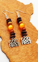 God First Earrings Christian Beaded Women Jewelry