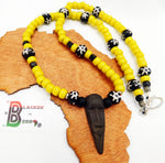 Men Necklaces Mask Jewelry Yellow Black Beaded The Blacker The Berry®
