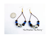 Ethnic Earrings Beaded African Jewelry Handmade
