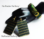 African Jewelry Set Ankara Necklaces Bracelets Green Gold