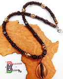 Cowrie Necklace Copper Jewelry Beaded Ethnic