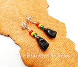 Hair Jewelry Rasta Ethnic Black Power Fist Accessories Black Red Yellow Green Handmade